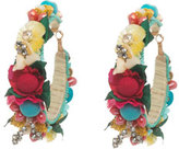 Ranjana Khan Beaded Flower Hoop Earrings