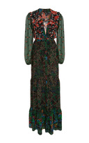 Saloni Ginny Printed Silk Maxi Dress