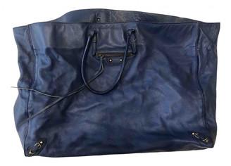 Balenciaga Papier Navy Leather Handbags
