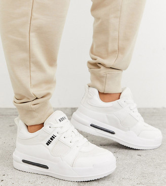 Nokwol Exclusive Grind skater trainers in white