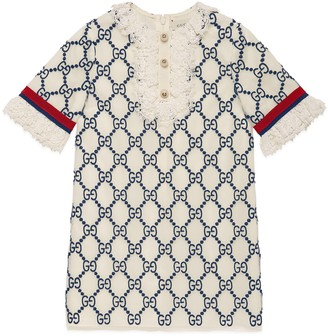 Gucci Children's GG embroidered tulle dress