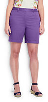 """Lands' End Women's Plus Size Mid Rise 7"""" Chino Shorts-Meadowland Green"""