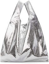 MM6 MAISON MARGIELA Silver Snake Shopping Tote