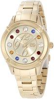 Ecko Unlimited Rhino by Women's E8M097MV Stone In Love Jewel Tone Multi-Color Stones Watch