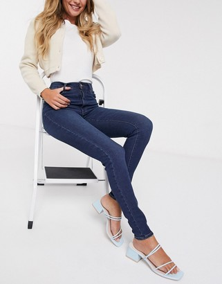Pieces Laura high waisted skinny jeans