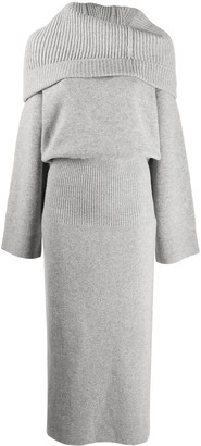 Kenzo Draped Neck Knit Dress