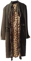 Roberto Cavalli Green Wool Coat for Women
