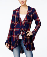 GUESS Inge Plaid Ruffled Top
