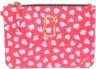 Marc Jacobs The Snapshot Printed Hearts Clutch Bag