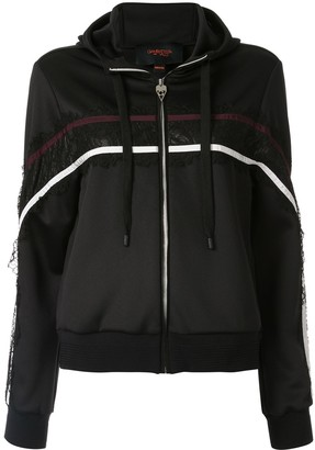 Giambattista Valli lace panel zipped hoodie