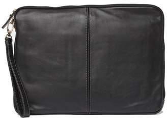 Boconi Underarm Leather Portfolio with Wrist Strap