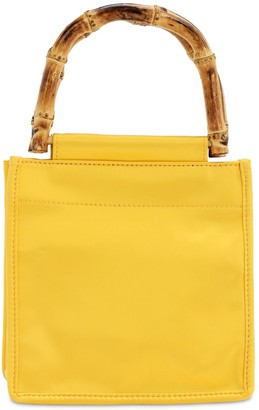 Hai Yellow Fellow Silk Top Handle Bag