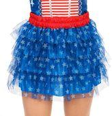 Adult Tiered Patriotic Stars Costume Tutu Skirt