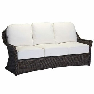 Summer Classics Sedona Patio Sofa with Cushions Frame Color: Sedona #2 Black Walnut, Cushion Color: Sisal Canvas
