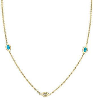 Andy Lif 18kt gold diamond Cats Eye necklace