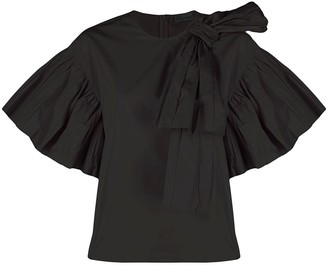 RED Valentino Bow-Detail Short-Sleeve Blouse