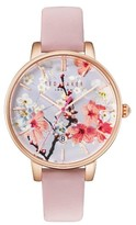 Ted Baker Women's Kate Round Leather Strap Watch, 38Mm