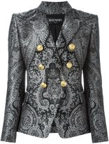 Balmain double breasted paisley blazer - women - Cotton/Polyester/Viscose - 38