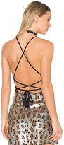 Riller & Fount x REVOLVE Lulu Halter Criss Cross Tank in Black. - size 3 / L (also in )