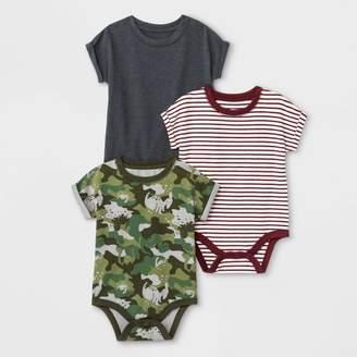 Cat & Jack Baby Boys' 3pk Bodysuits - Cat & JackTM /White/Gray