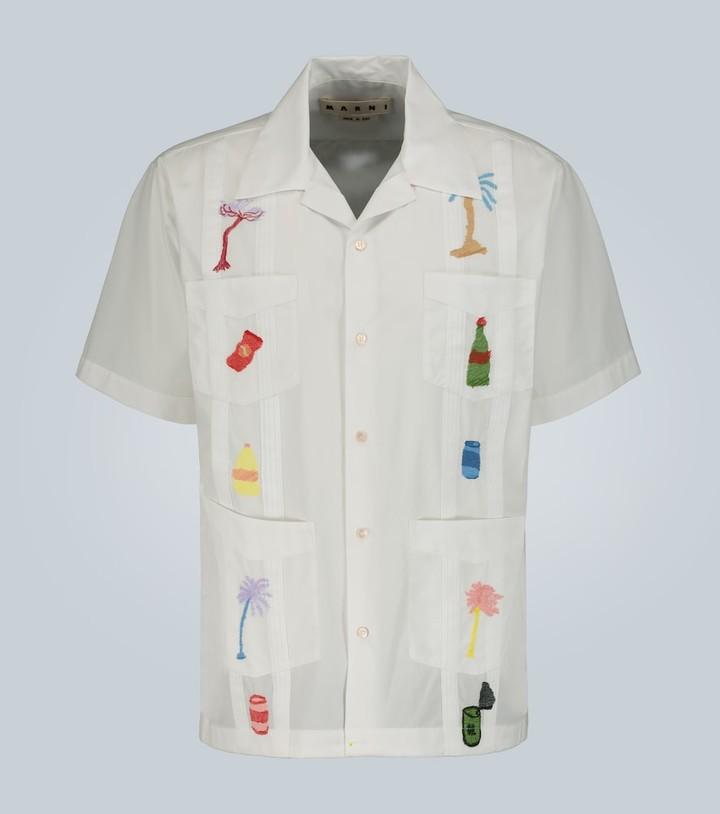 Marni Embroidered short-sleeved shirt