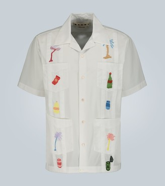 Marni Embroidered short-sleeved shirt