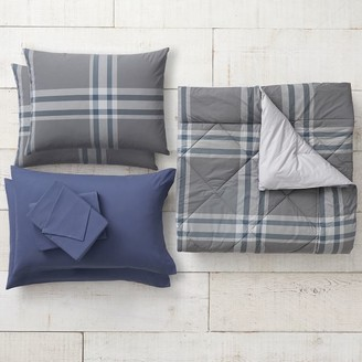 Pottery Barn Teen Xander Plaid Comforter Bundle