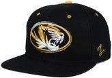 Zephyr Missouri Tigers Triple Black Snapback Cap