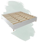 Noah Platform Bed Foundstone Color: White Tuscan, Size: Queen