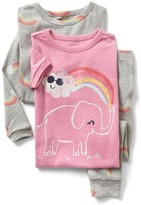 Gap Rainbow elephant sleep set (3-pack)