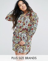 AX Paris Plus Jungle Floral Shirt Dress
