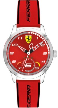Ferrari Kid's Pitlane Red Silicone Strap Watch 34mm