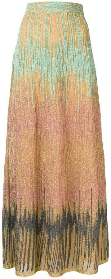 M Missoni lurex maxi skirt