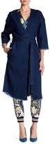 Rachel Roy Denim Waist Belt Coat