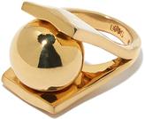 """Lele Sadoughi Gold Plated Ring """"Pinball"""""""