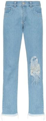 Marques Almeida Straight-Leg Ripped Jeans