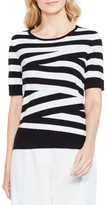 Vince Camuto Women's Stripe Cotton Blend Sweater