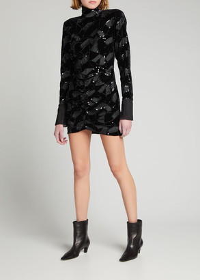 Rotate by Birger Christensen Miki Geometric Sequin Mini Dress