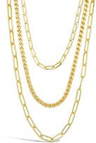 Thumbnail for your product : Sterling Forever 3-Layer Chain Necklace