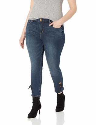 Vintage America Blues Women's Plus Size Wonderland Skinny Ankle Jean