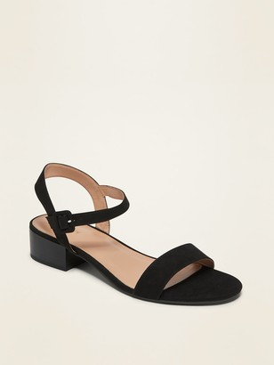 Old Navy Faux-Suede Low-Heel Sandals for Women