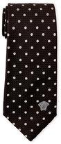Versace Textured Polka Dot Silk Tie