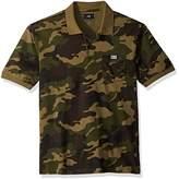 Obey Men's All Eyez Camo Short Sleeve Polo Shirt