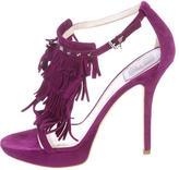 Christian Dior Suede Fringe Sandals