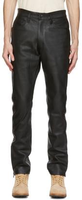 Nonnative Black Leather Explorer Trousers