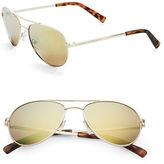Calvin Klein 55mm Mirrored Aviator Sunglasses