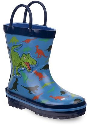 Rugged Bear Dinosaur Toddler Boys' Waterproof Rain Boots