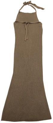 Base Range Beige Viscose Dresses