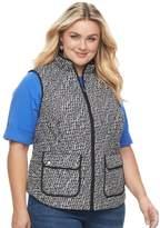 Croft & Barrow Plus Size Quilted Vest