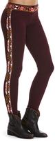 Odd Molly Dark Grape Geometric Leggings